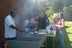 First Sunday barbecue at Aston Parish Church