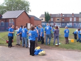Hope 08 clear up team outside Witton Community Centre