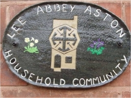 Sign on outside of Lee Abbey house