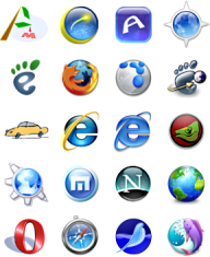 Collection of browser logos